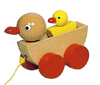 children_educational_toys_12558_duckling_pull_along_handmade_wood_toy_turning